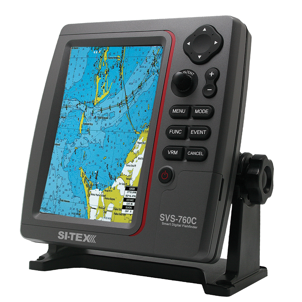 SI-TEX SVS-760C Digital Chartplotter w/Navionics+ Flexible Coverage
