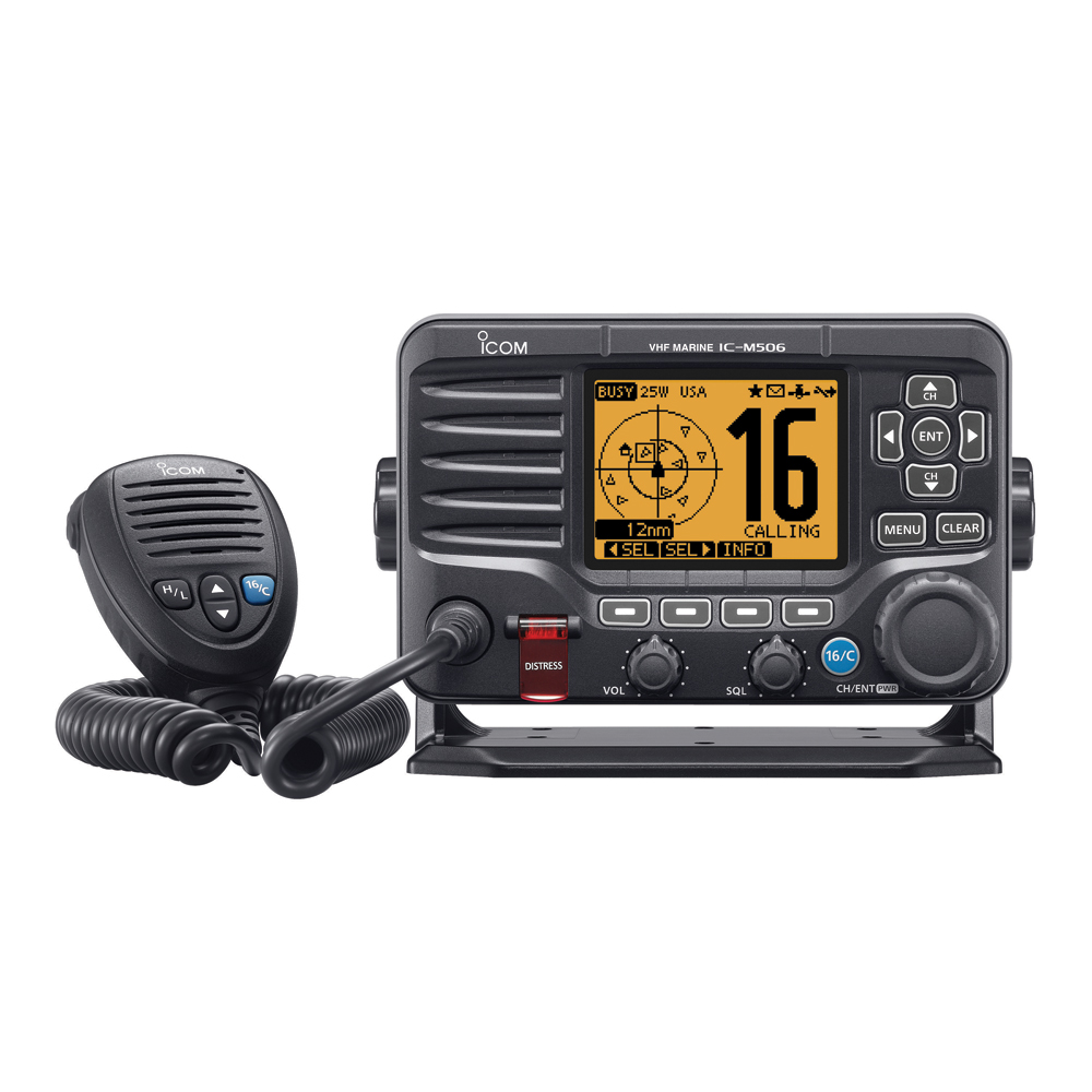 Icom M506 VHF Fixed Mount w/NMEA 0183 - Black