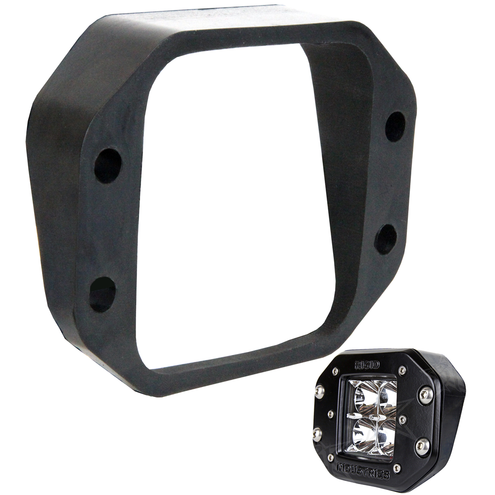 Rigid Industries D-Series Angled Flush Mount Kit - Up/Down