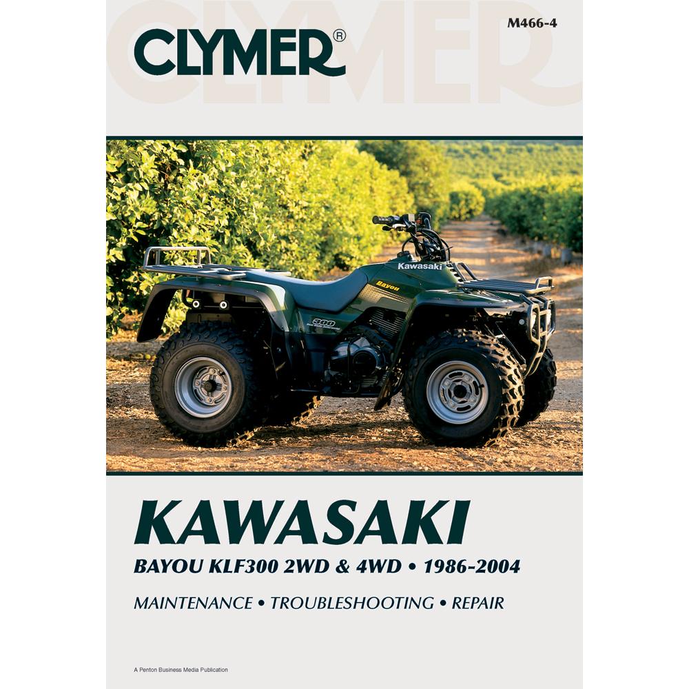 Clymer Kawasaki Bayou KLF300 2WD (1986-2004) & 4WD (1989-2004)