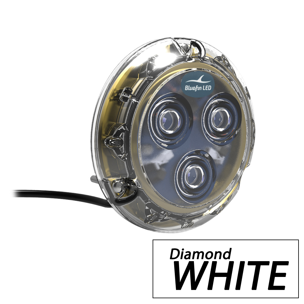 Bluefin LED Piranha P3 Surface Mount Underwater LED Light - 1100 Lumens - Diamond White