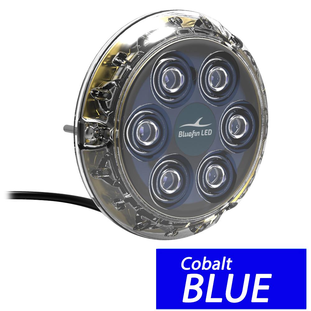 Bluefin LED Piranha P6 Surface Mount Underwater LED Light - 2100 Lumens - Topaz Blue