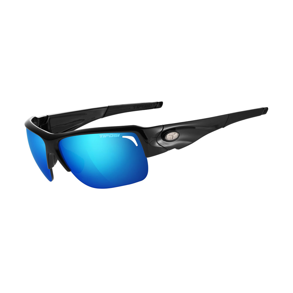 Tifosi Elder Interchangeable Sunglasses - Clarion Mirror Collection - Gloss Black