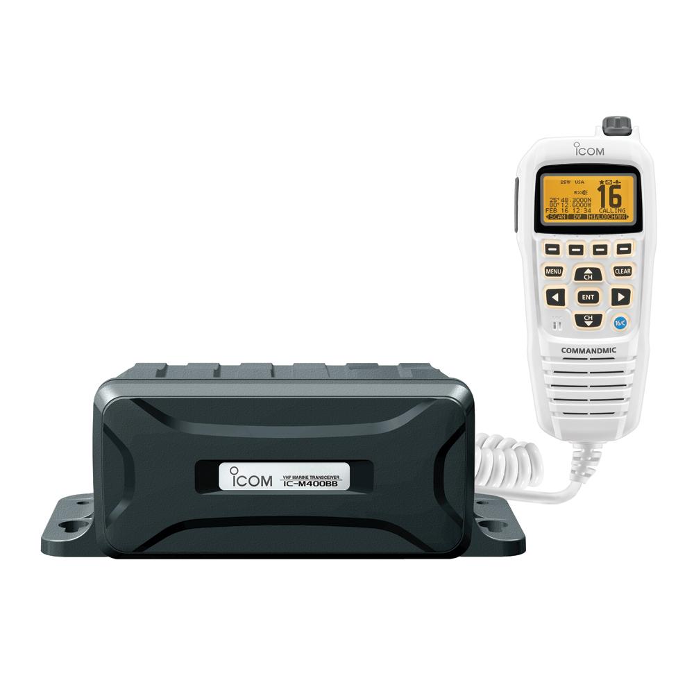 Icom Black Box VHF Marine Tranceiver w/White Command Mic