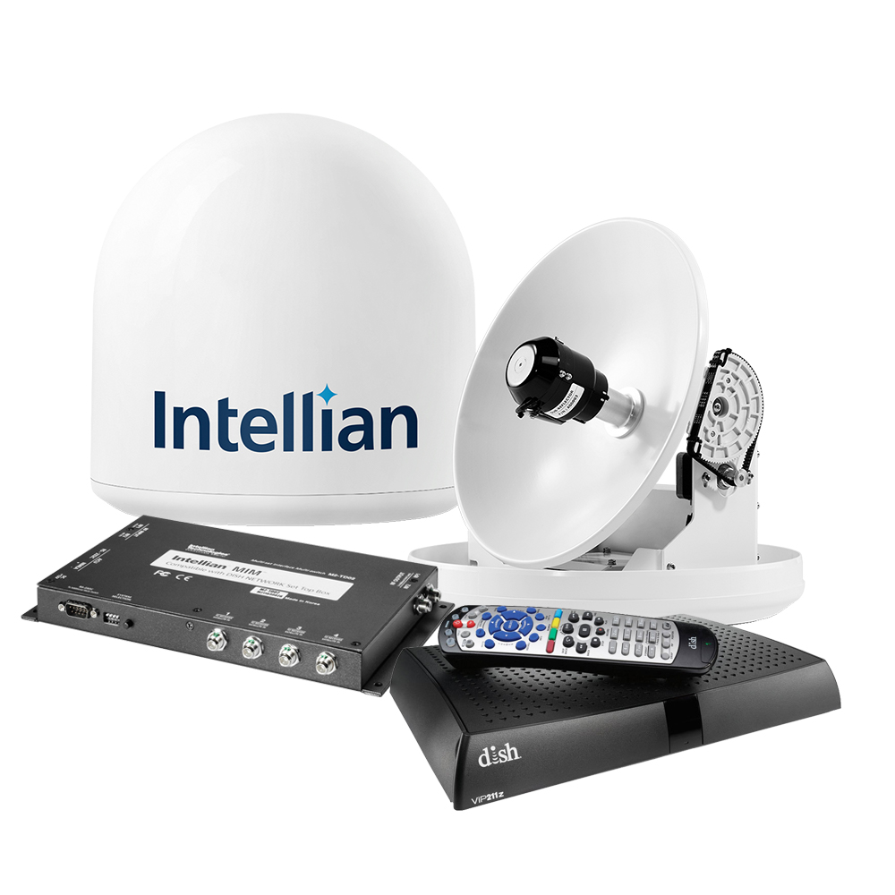 Intellian i2 US System w/DISH/Bell MIM, 15M RG6 Cable, & VIP211z DISH HD Receiver