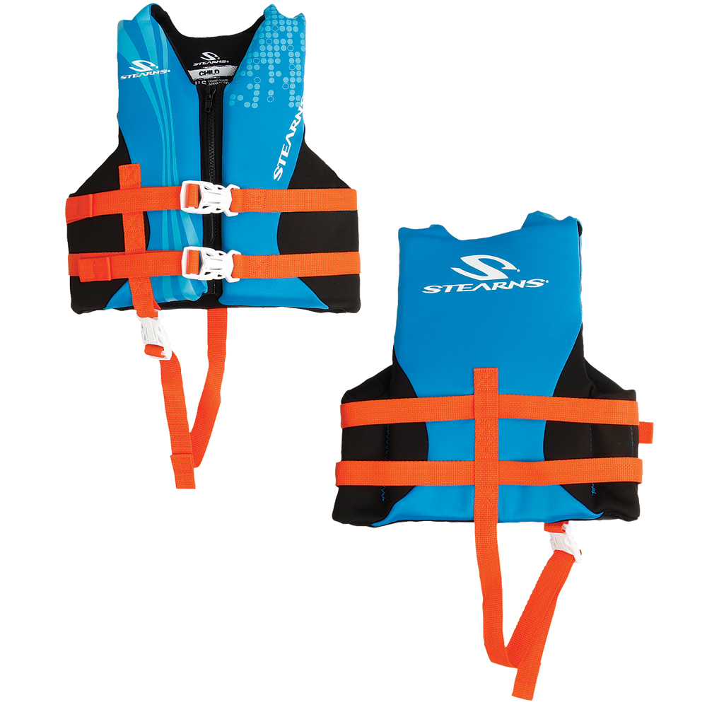 Stearns Child Hydroprene™ Vest Life Jacket - 30-50lbs - Blue