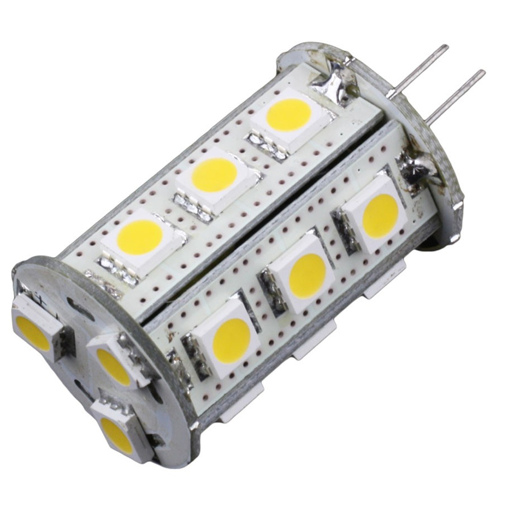 Lunasea G4 Bottom Pin 18 LED Light Bulb - Cool White