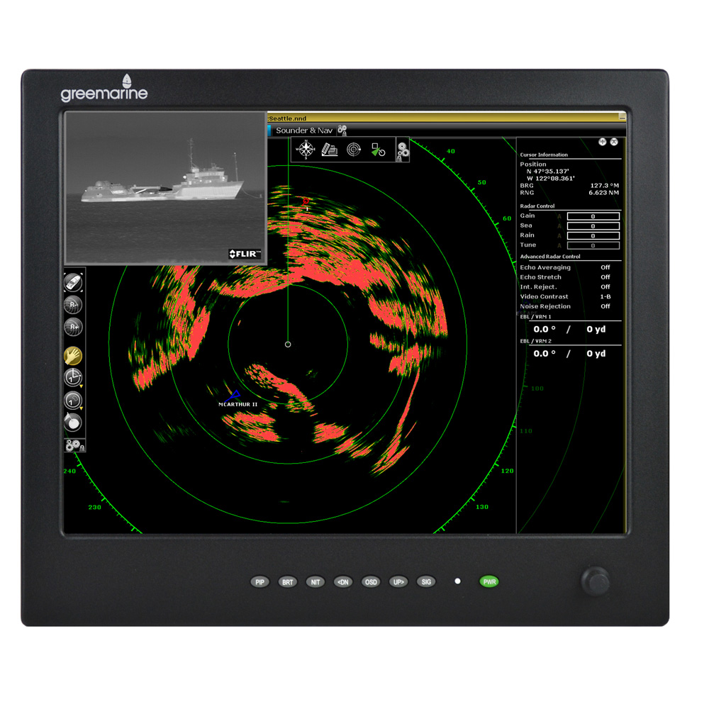 Green Marine AWM Series II IP65 Sunlight Readable Marine Display - 15