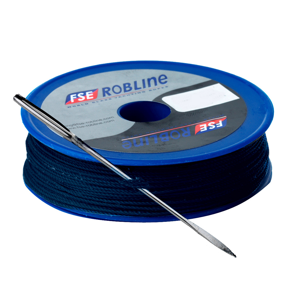 FSE Robline Waxed Tackle Yarn Whipping Twine Kit w/Needle - Dark Navy Blue - 0.8mm x 80M