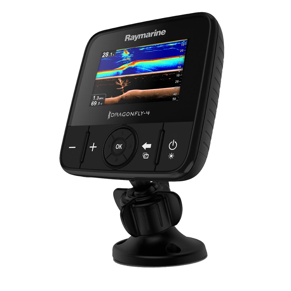 Raymarine Dragonfly 4DVS w/T/M Transducer CHIRP DownVision™ & Regular Sonar