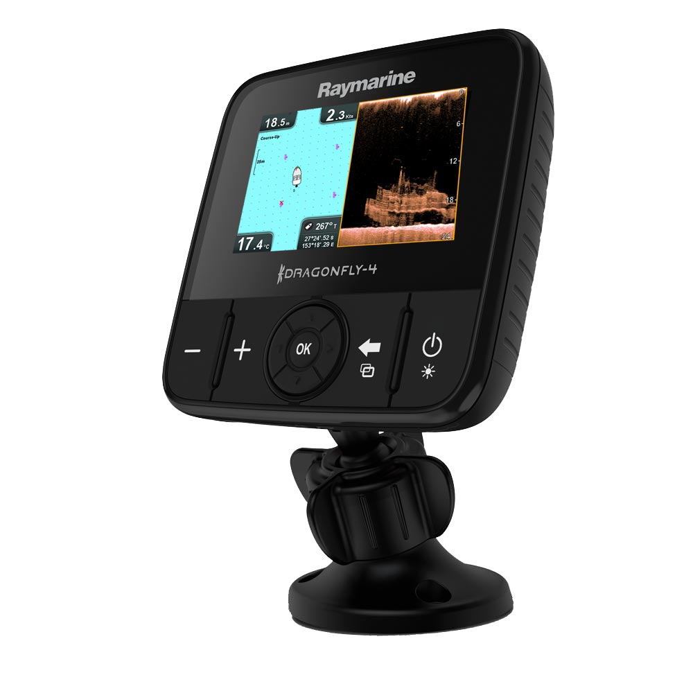 Raymarine Dragonfly 4PRO Gold Combo w/T/M Transducer & Navionics Gold Lakes, Rivers & Coastal Maps