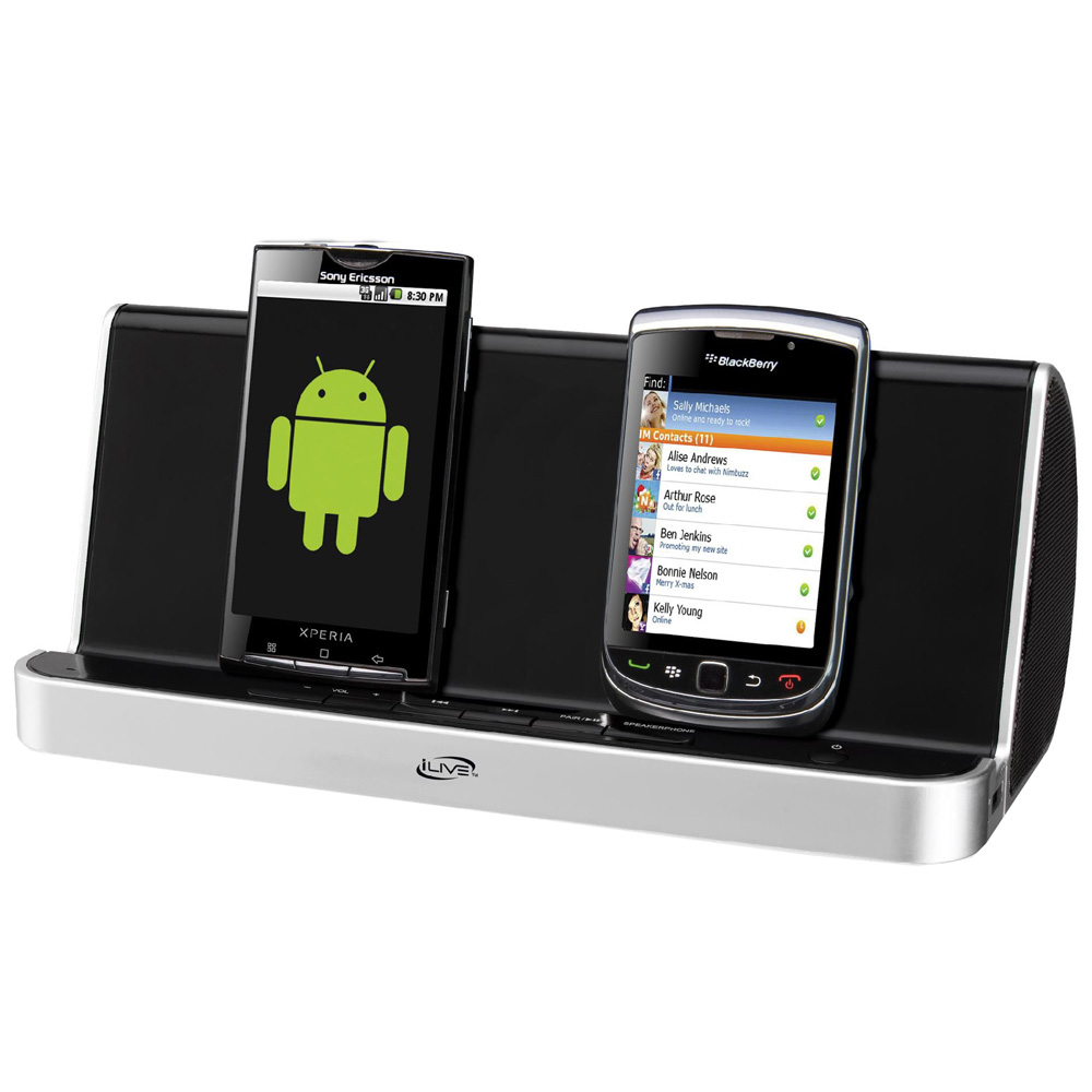 iLive ISB311B Bluetooth Speaker and Charging Station