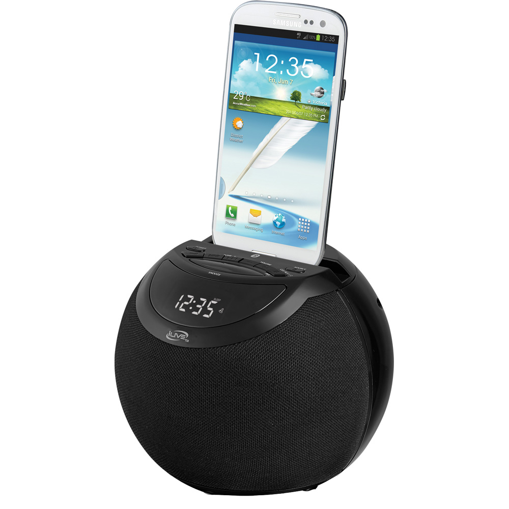iLive ICB103 Wireless Bluetooth Speaker w/Clock