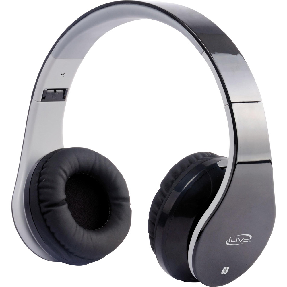 iLive IAHB64B Bluetooth Stereo Headphones w/Microphone - Black