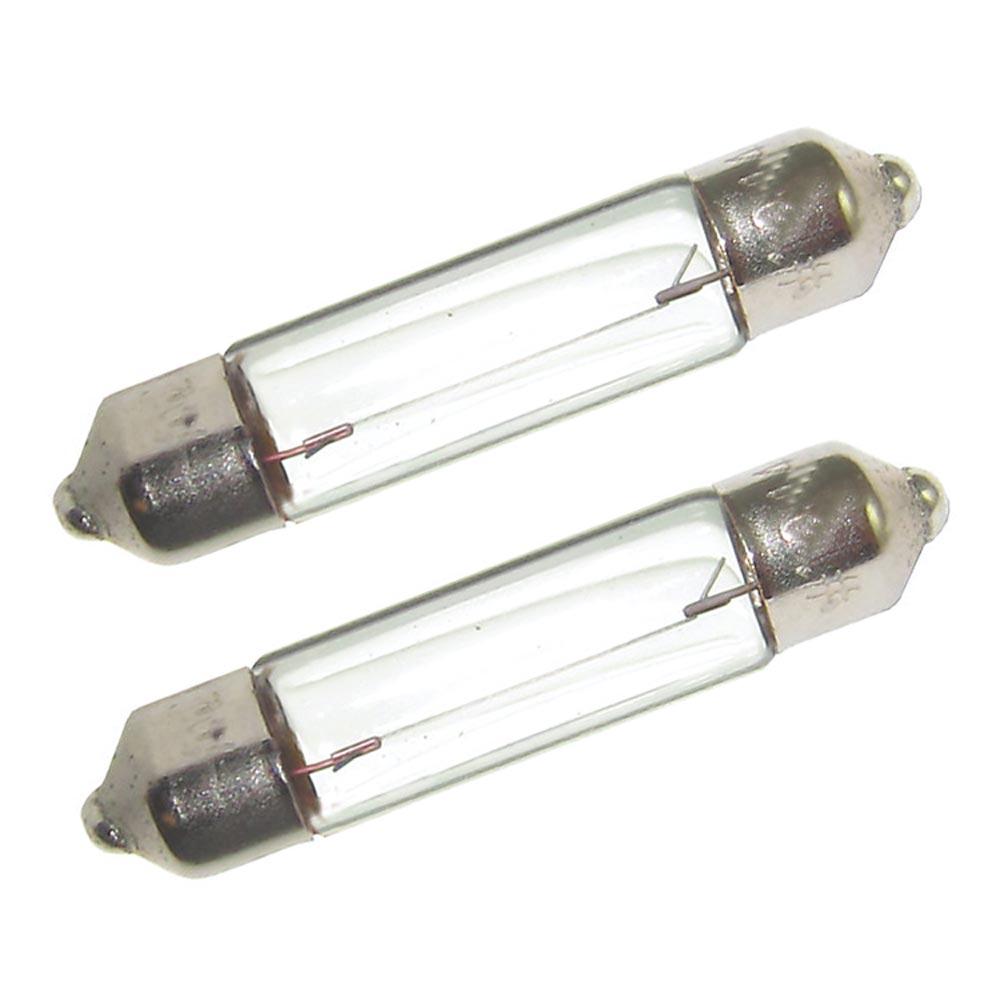Perko Double Ended Festoon Bulbs - 12V, 10W, .74A - Pair