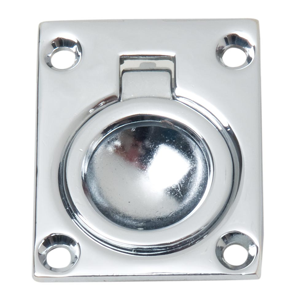 Perko Flush Ring Pull - Chrome Plated Zinc