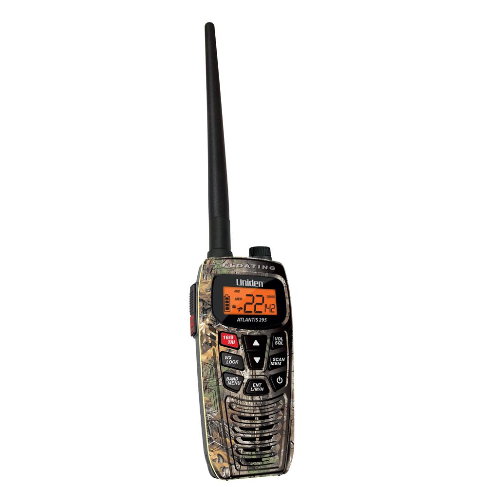 Uniden Atlantis 295 Dual Band VHF/GMRS Handheld - Camo