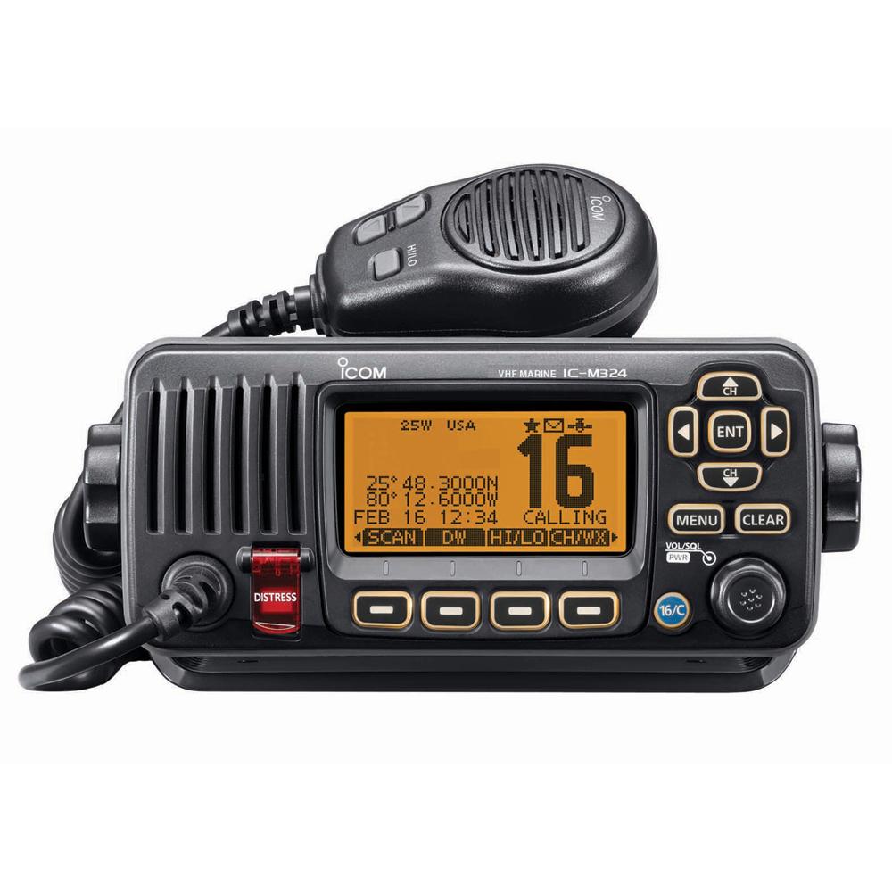 Icom M324 Fixed Mount VHF Marine Transceiver - Black