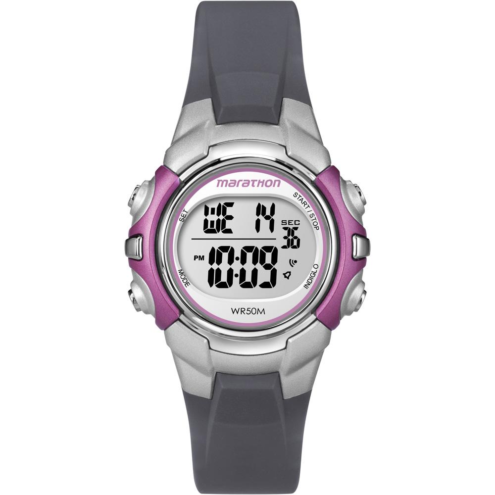 Timex Marathon Digital Mid-Size Watch - Black/Pink