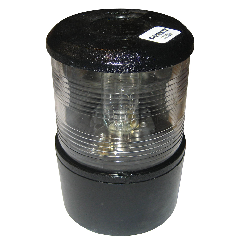 Perko All-Round Light f/Sail or Power Less Than 20M - 12VDC - Black Base Mount/White Light