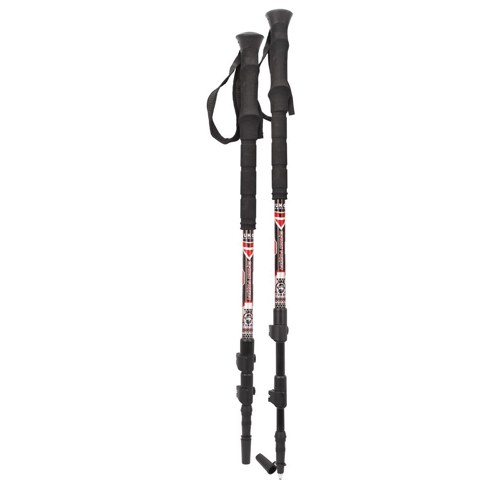 Yukon Charlie's Carbon Lite Trekking & Snowshoe Pole - Red