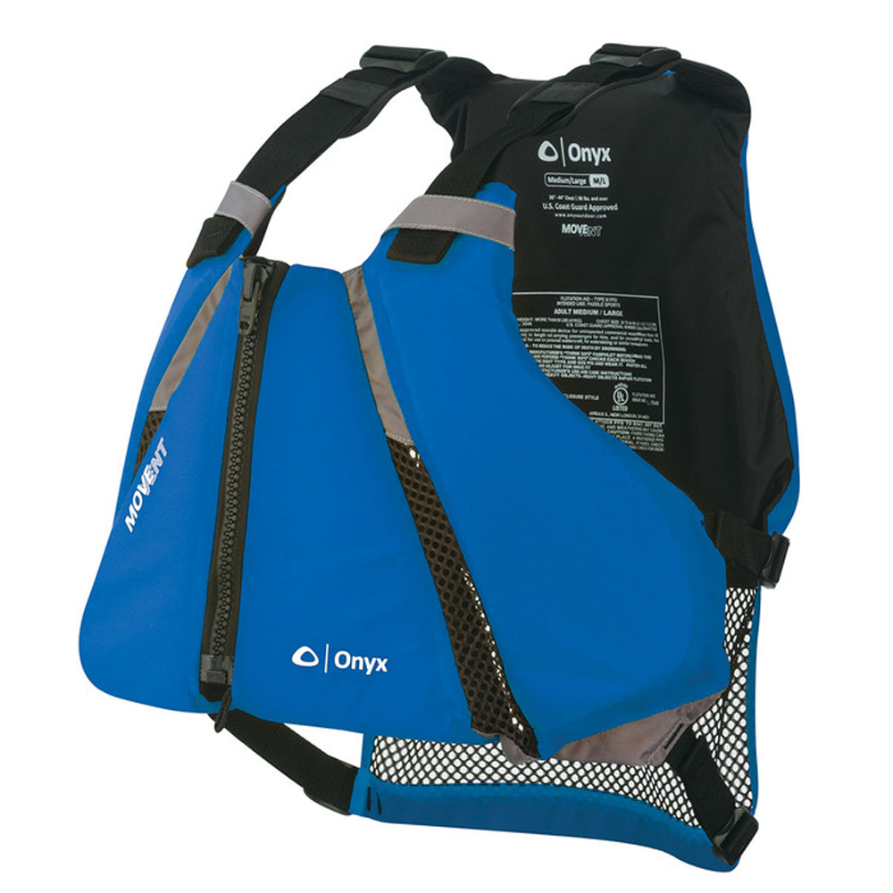 Onyx MoveVent Curve Paddle Sports Life Vest - M/L - Blue