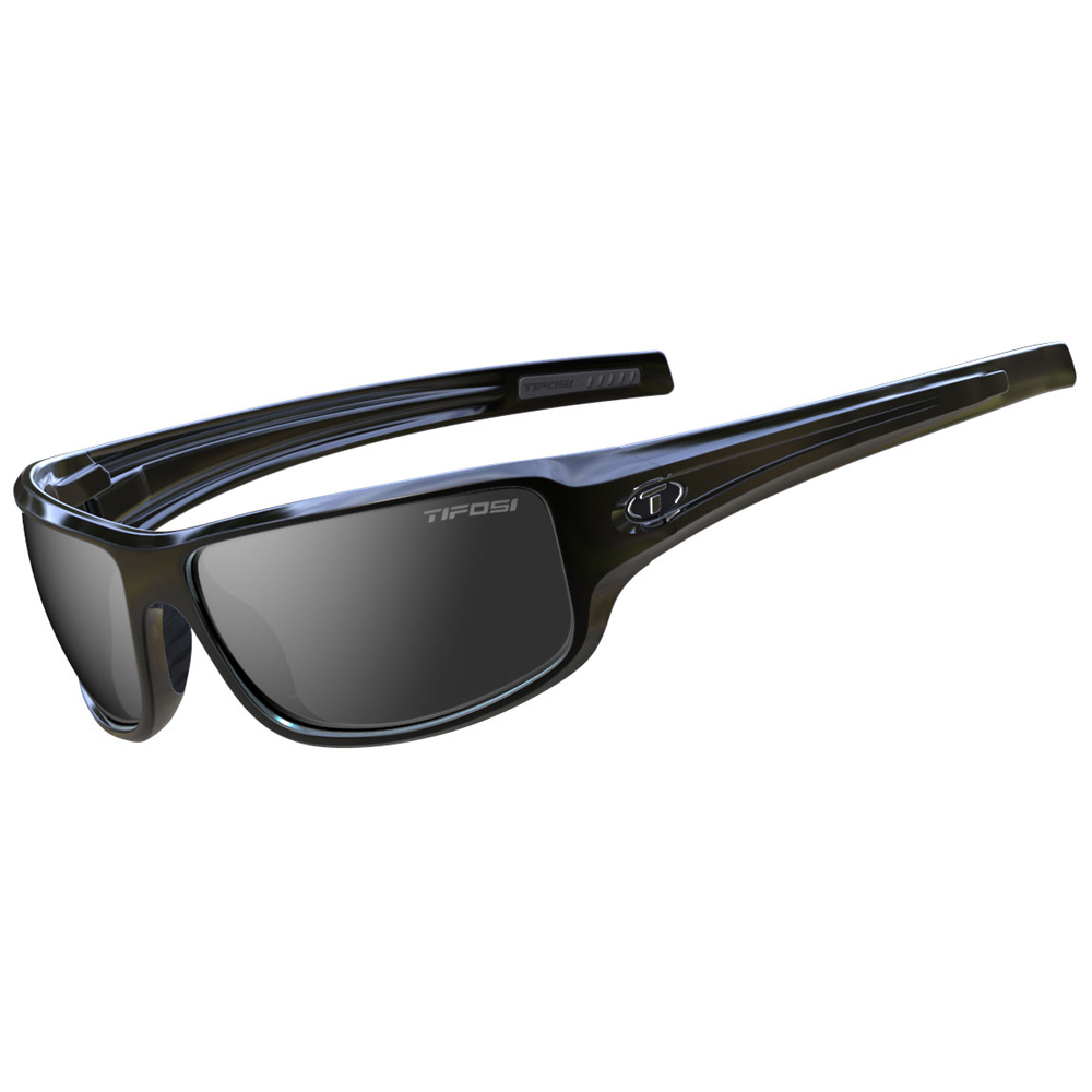 Tifosi Bronx Smoke Lens Sunglasses - Gloss Black