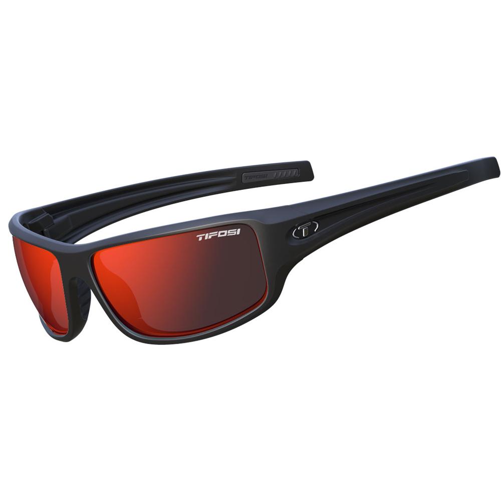 Tifosi Bronx Clarion Red Lens Sunglasses - Matte Black