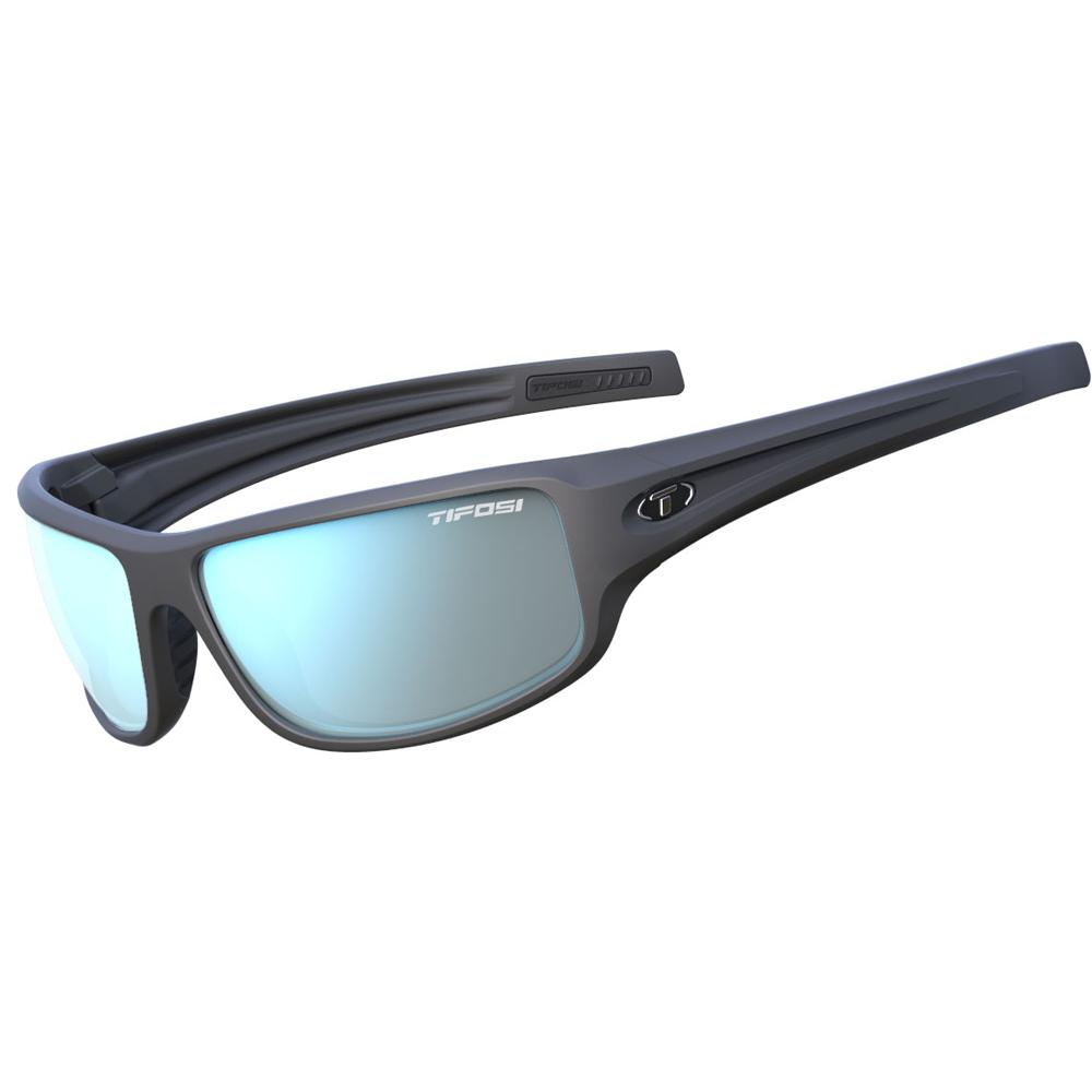 Tifosi Bronx Smoke Bright Blue Lens Sunglasses - Matte Gunmetal
