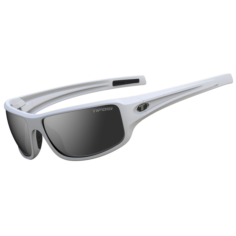 Tifosi Bronx Smoke Lens Sunglasses - Matte White