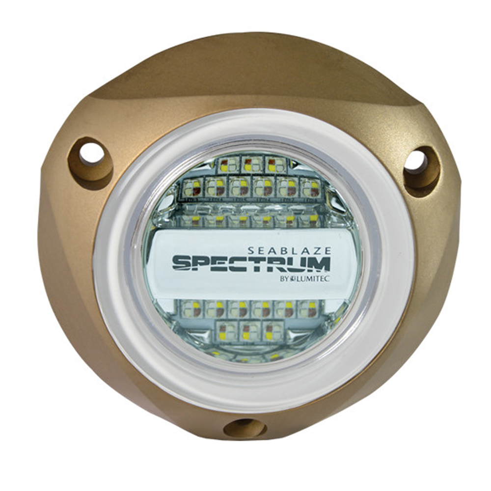 Lumitec SeaBlazeX Spectrum - Underwater Light - Bronze Housing - Full-Color Red, Blue, Green & White
