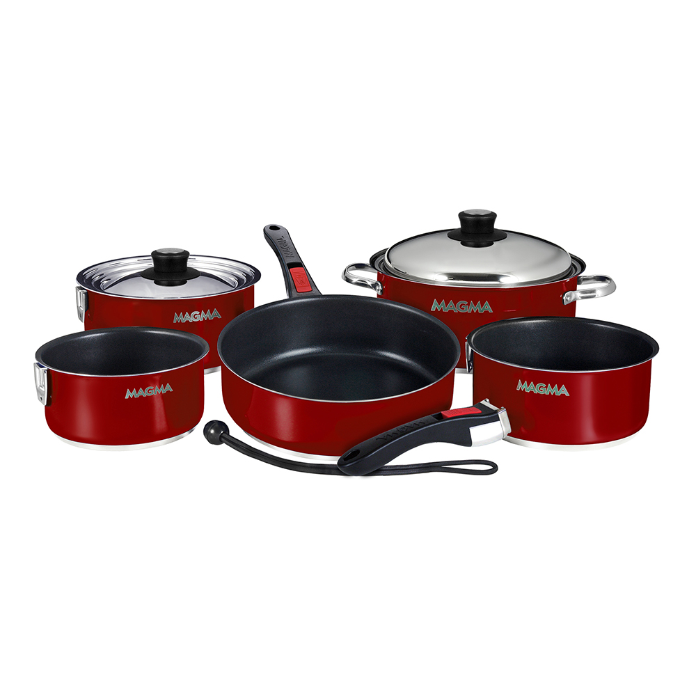 Magma Products, A10-366-MR-2-IN Gourmet Nesting 10-Piece Red