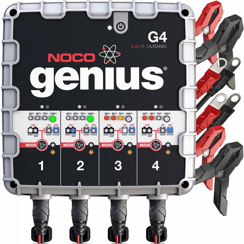 NOCO Genius G4 6V/12V 1100mA Battery Charger - 4-Bank