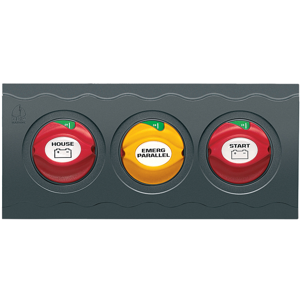 BEP Contour Connect 3 Battery Switch Panel w/3 Disconnects
