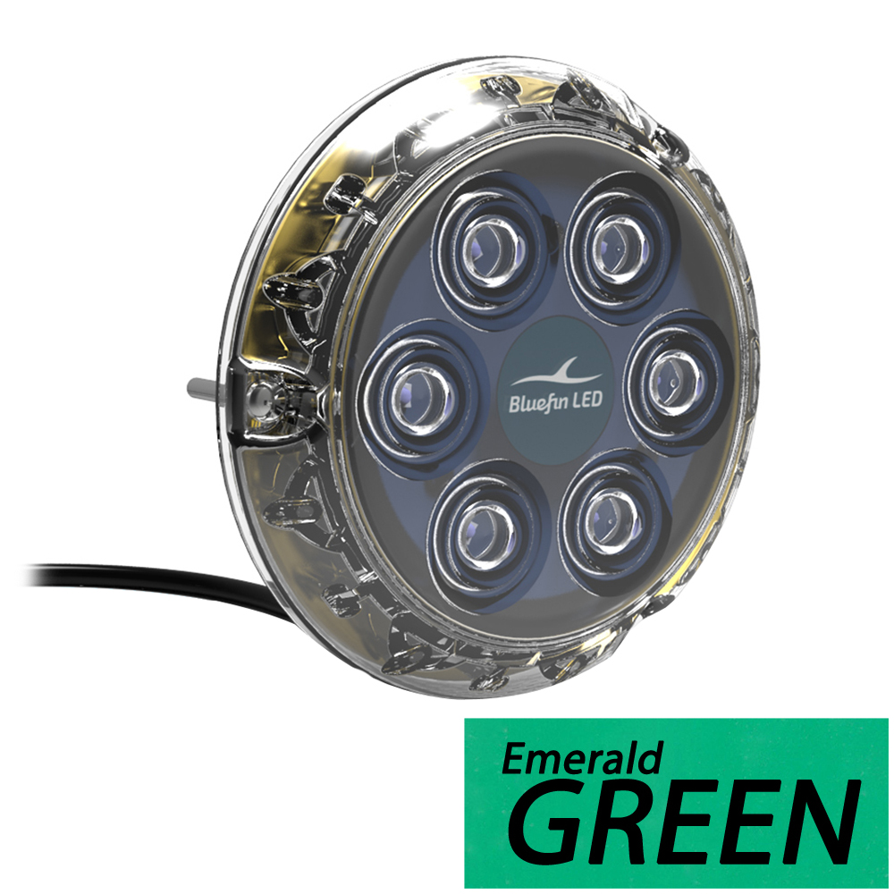 Bluefin LED Piranha P6 Nitro SM Underwater Light 12V - Emerald Green