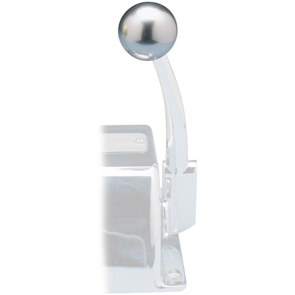 Rupp Control Knob Silver For Morse Controls (3/8-24 Thread)