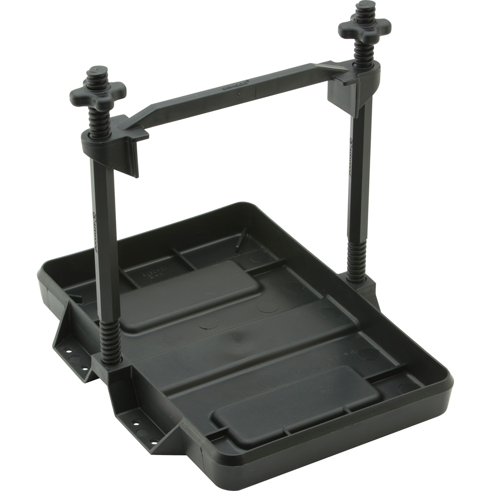 Attwood Heavy-Duty All-Plastic Adjustable Battery Tray - 24 Series