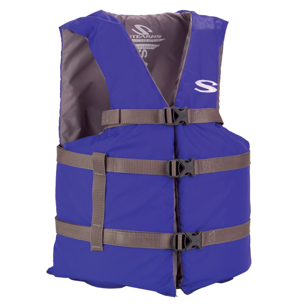 Stearns Classic Series Adult Universal Life Vest - Blue/Grey