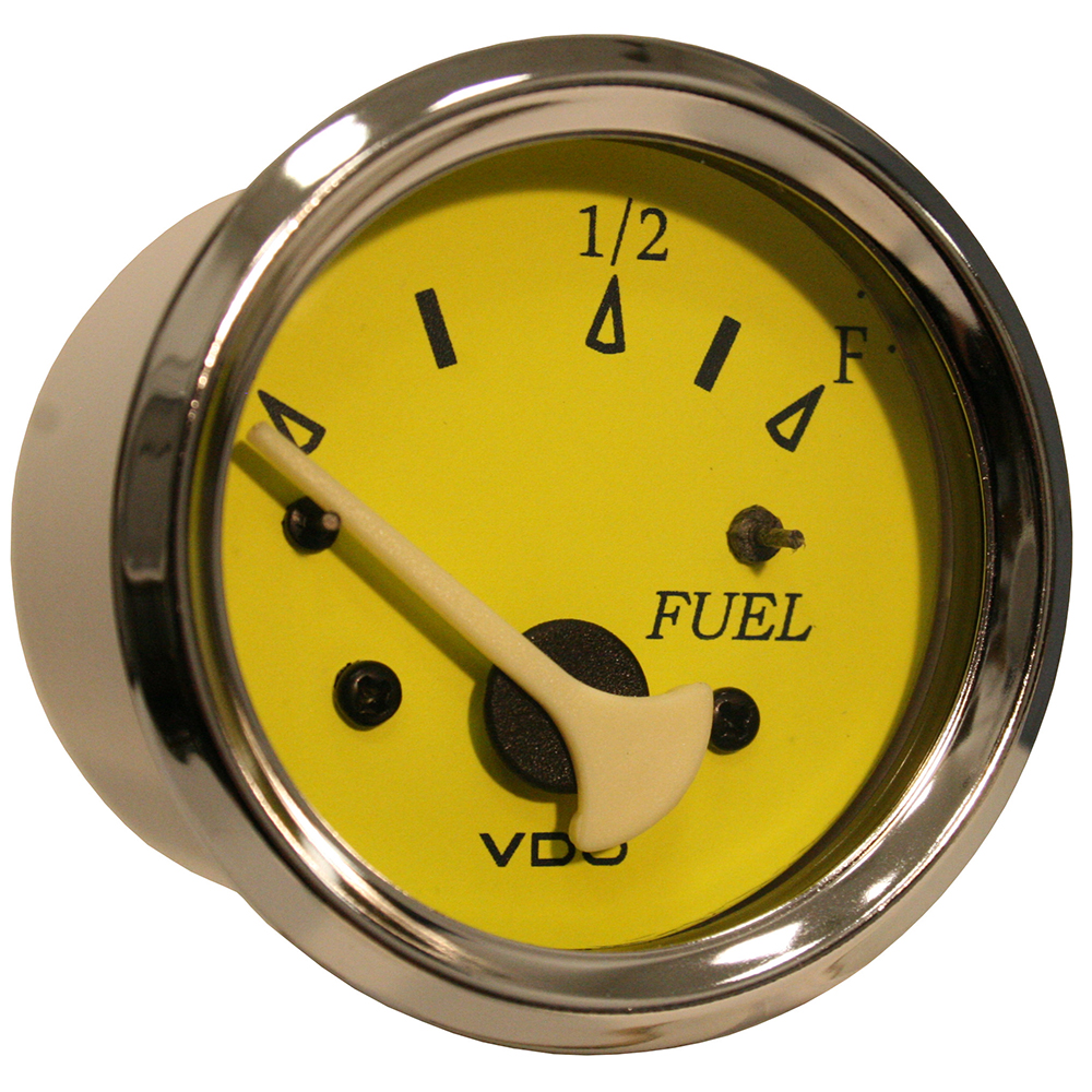 VDO Allentare Yellow/Blue Fuel Level Gauge Use W/Marine