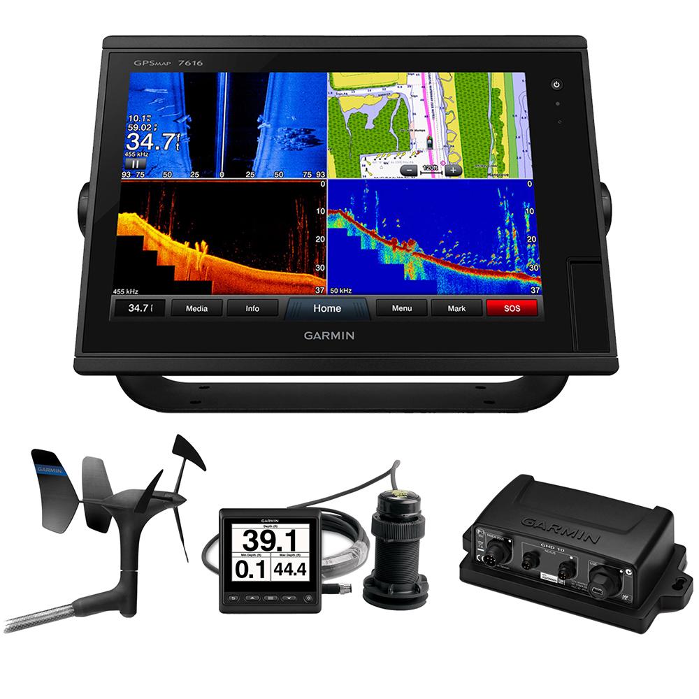 Garmin GPSMAP® 7616 Sail Pack w/Wind, Depth & Speed Bundle