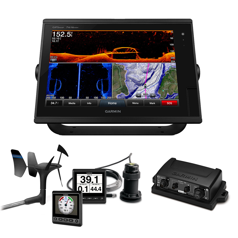 Garmin GPSMAP® 7616xsv Sail Plus Pack w/Wind, Depth & Speed Bundle w/GNX™20