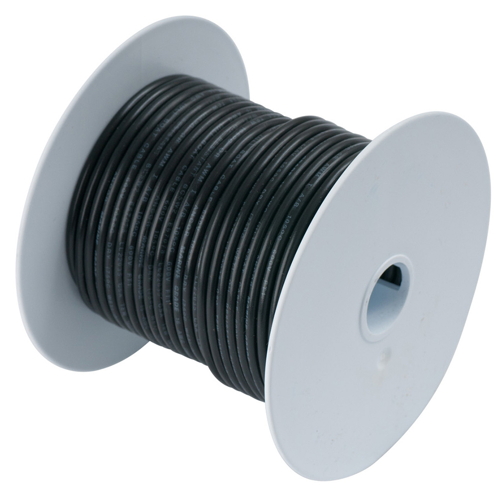 Ancor Black 8 AWG Tinned Copper Wire - 250'