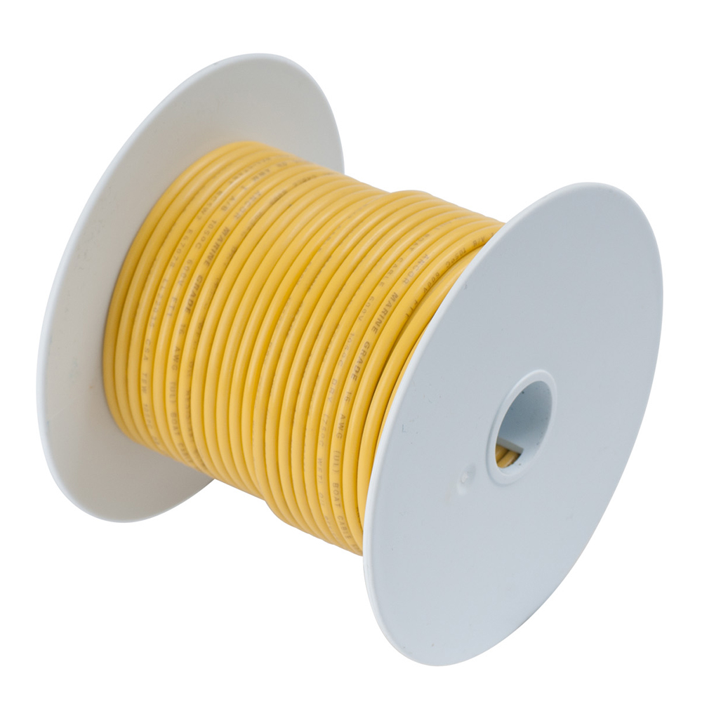 Ancor Yellow 8 AWG Tinned Copper Wire - 250'