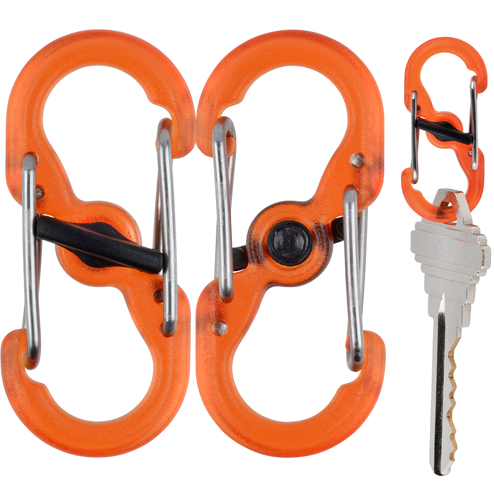 Nite Ize S-Biner® MicroLock® Polycarbonate - 2-Pack - Orange