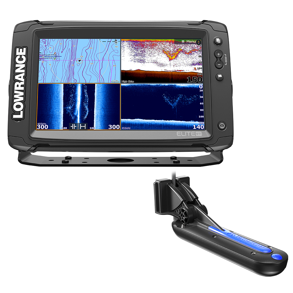 Lowrance elite 9 ti chartplotter fishfinder with totalscan for Gps trolling motor for sale