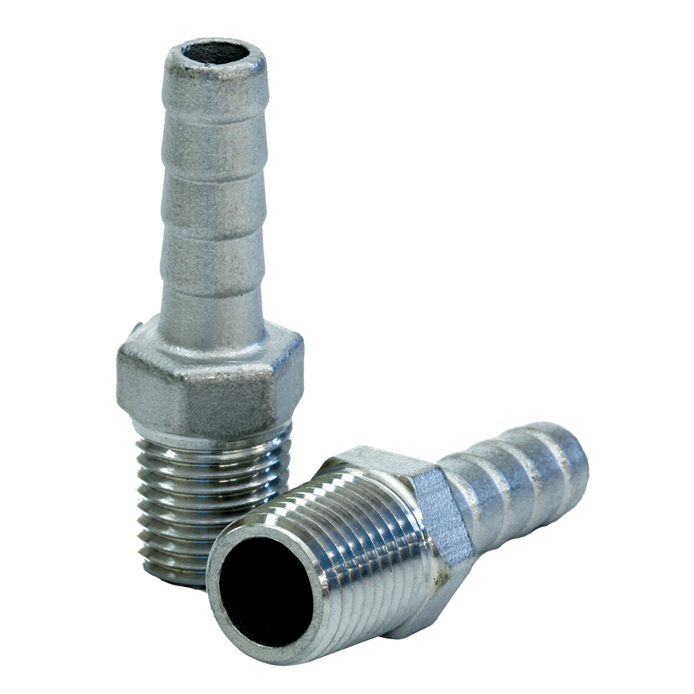 Tigress stainless steel pipe to hose adaptor quot ips