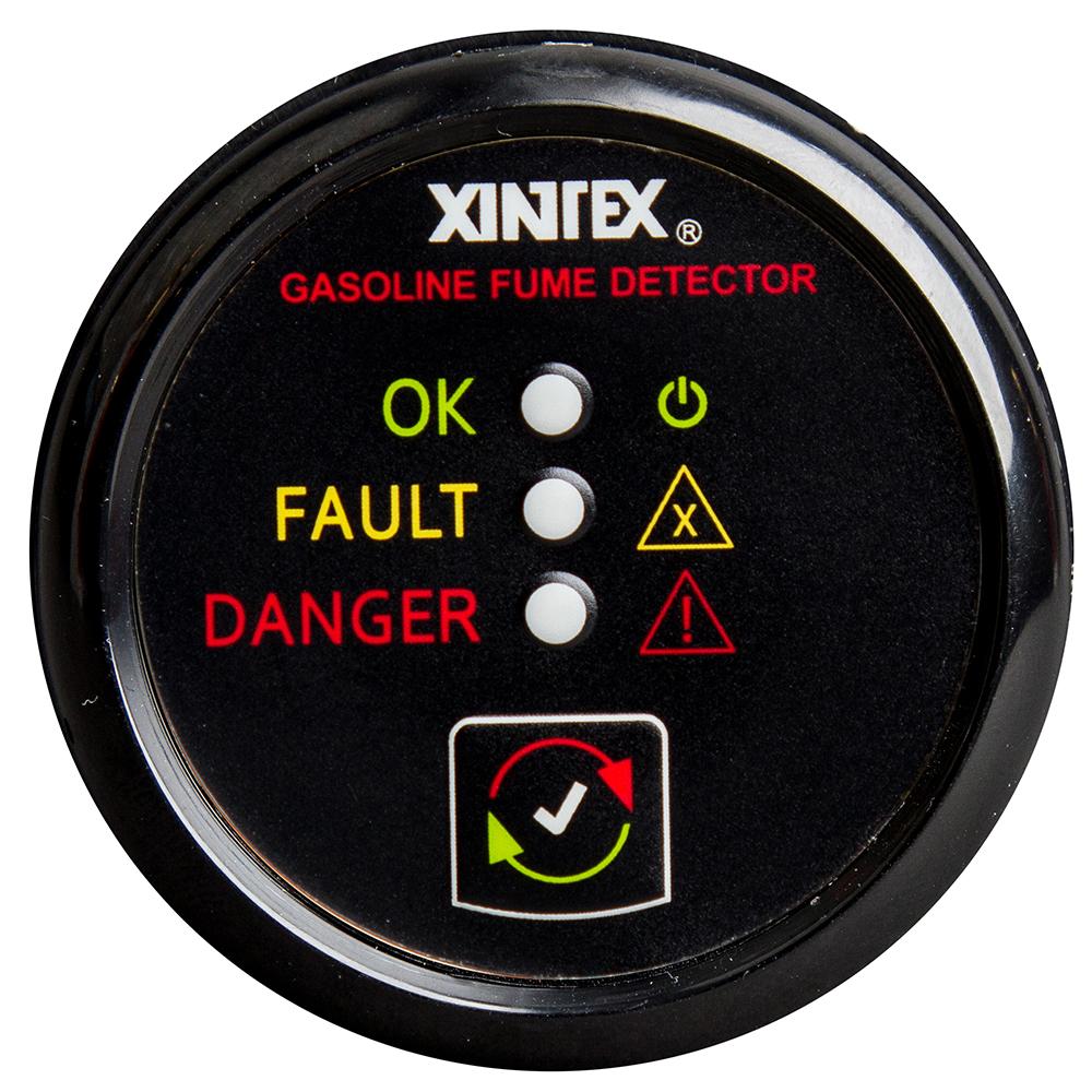 Xintex Gasoline Fume Detector & Alarm w/Plastic Sensor - Black Bezel Display