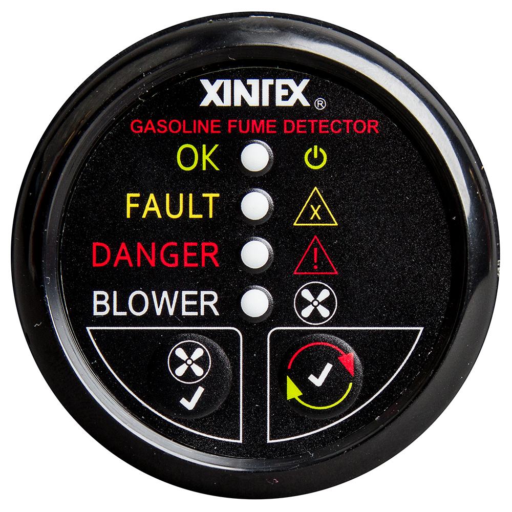 Xintex Gasoline Fume Detector & Blower Control w/Plastic Sensor - Black Bezel Display