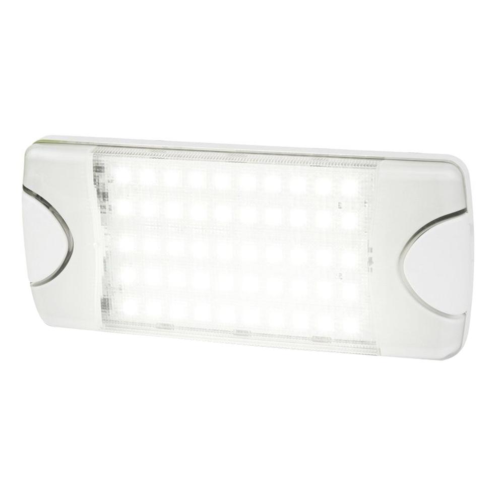 Hella Marine Duraled 50 Low Profile Interior Exterior Lamp White Led Spreader Beam 980629001