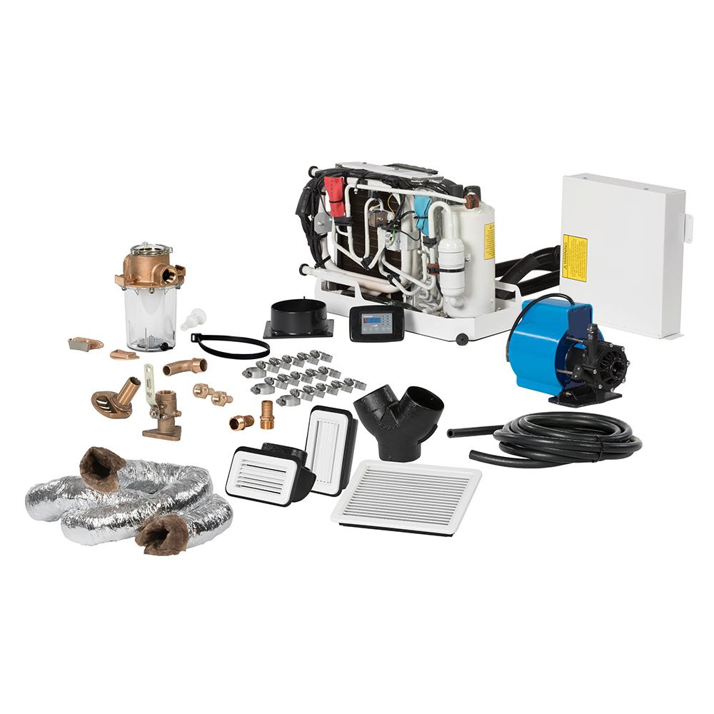 Webasto FCF Platinum Series Air Conditioner Complete System Kit w/KoolAir PM500 Pump & Ducting - 12,000 BTU/h - 115V